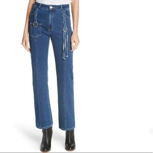 NWT See By Chloe Tassel Boot Cut Jeans Ink Marine